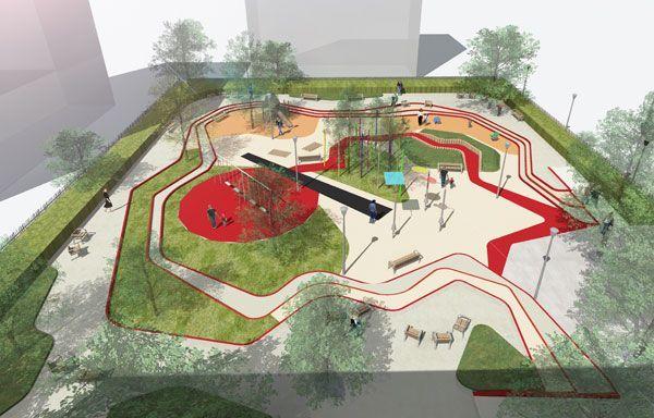 paisajismo parques infantiles juegos infantiles arquitectos paisajistas reas de juego diseo del paisaje nios espacios pblicos jardn de infantes