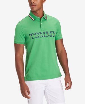 5475e3b1e TOMMY HILFIGER MEN'S LANCE CUSTOM-FIT LOGO POLO. #tommyhilfiger #cloth