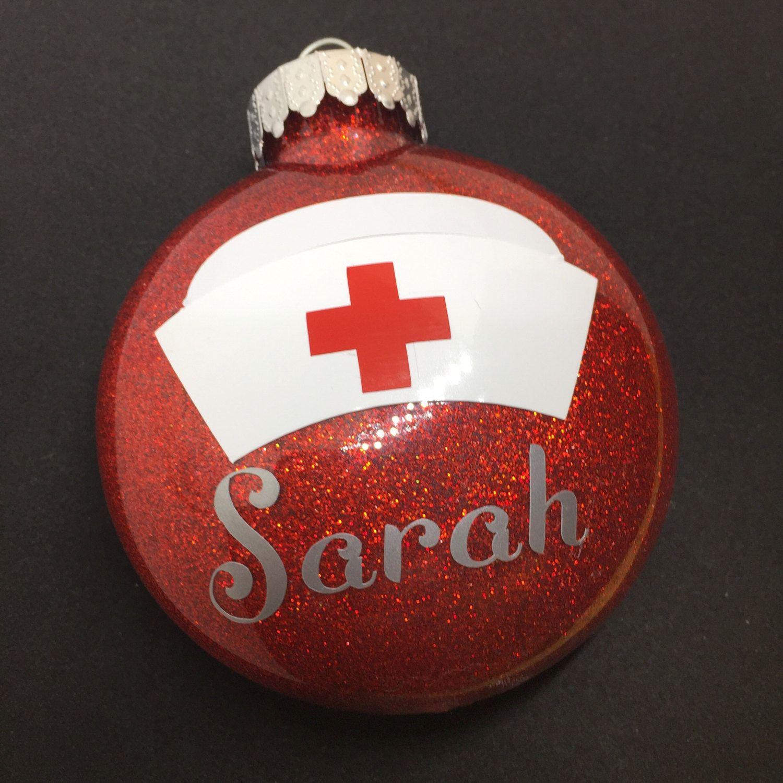 Nurse Christmas Ornament Personalized Nursing School