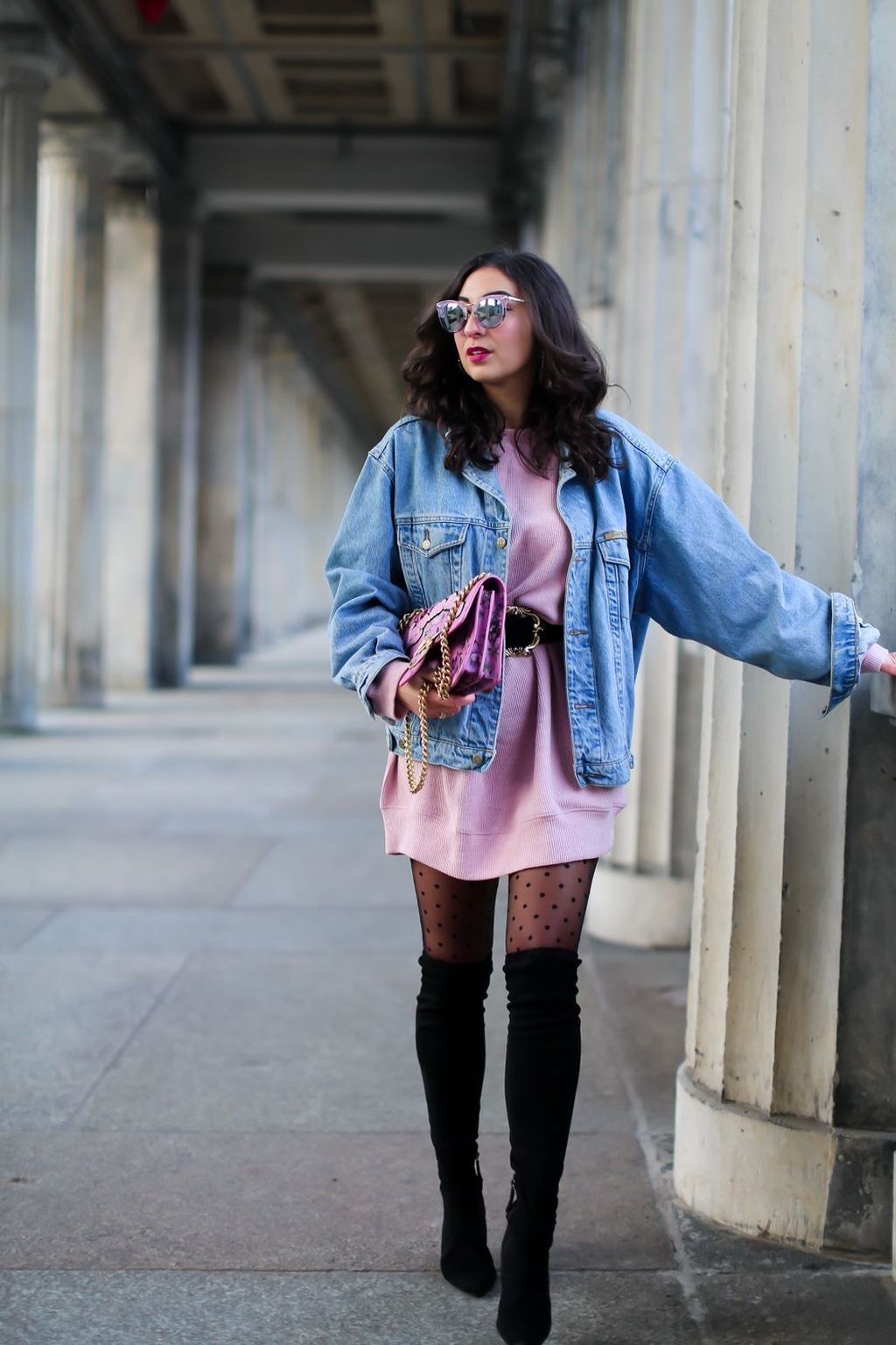 40 Awesome Winter Outfits Ideas With Denim Jacket - Trendwear4you.com  sc 1 st  Pinterest & 40 Awesome Winter Outfits Ideas With Denim Jacket | Denim jackets ...