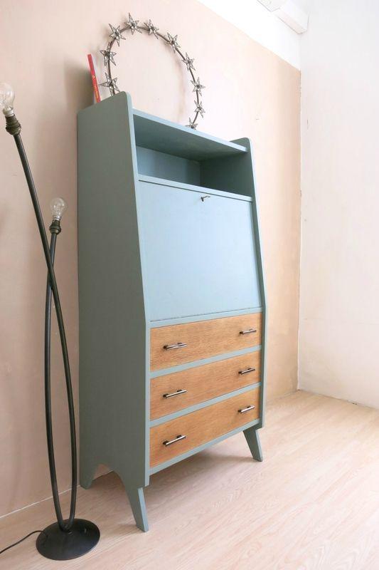 LE JOLI SECRÉTAIRE repeint vintage \u2026 meuble Pinterest