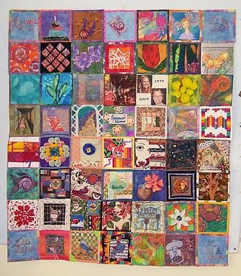 This art quilter made a year-long weekly block journal quilt.  What could I make weekly for a year to create a larger finished product?