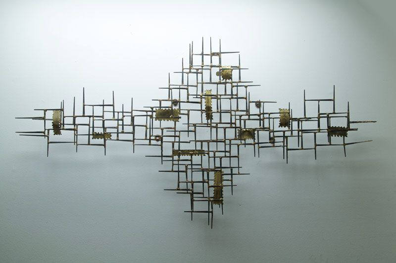 Solo Thais Mid Century Wall Sculptures Good Example Of Something Nice For Berlin The Piece Evokes A City Scape
