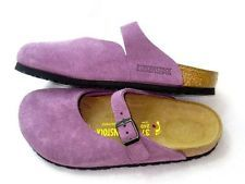 New Birkenstock Blackberry Purple Suede Mary Jane Clogs Size 6-6.5 N / 37 N $140