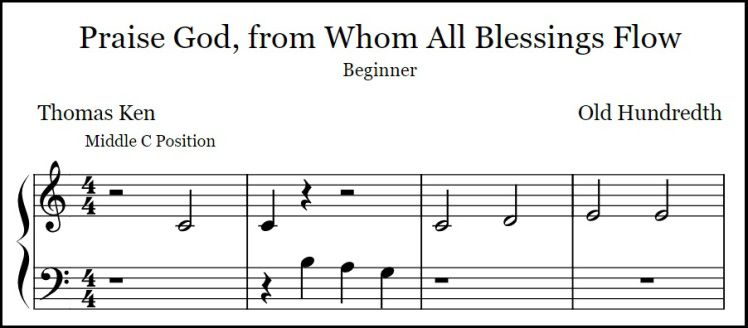 Free Beginner And Level 1 Arrangements Of The Common Doxology