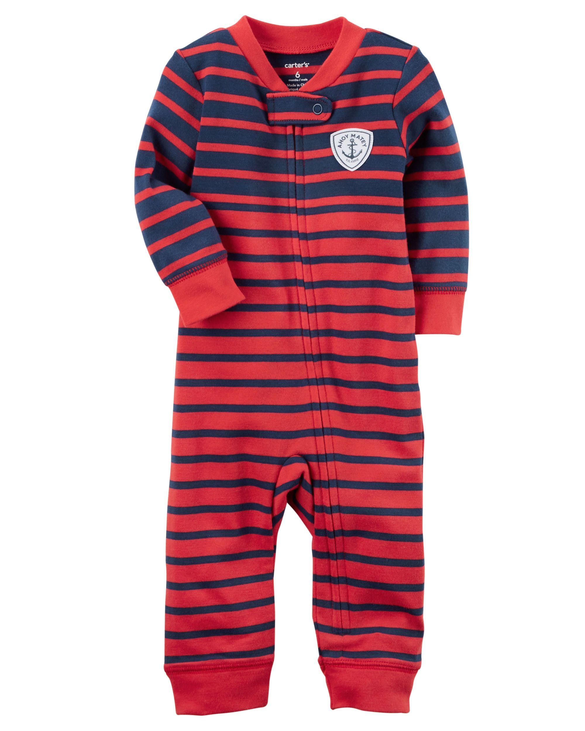 e5ec8f38f Baby Boy Cotton Zip-Up Footless Sleep   Play