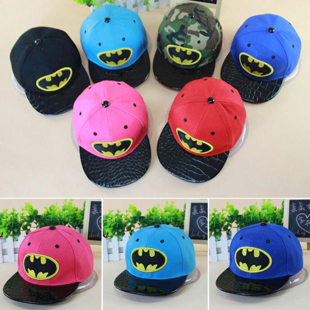 Toddler Kid Boy Baby Batman Baseball Cap Summer Adjustable Snapback Sun Hat