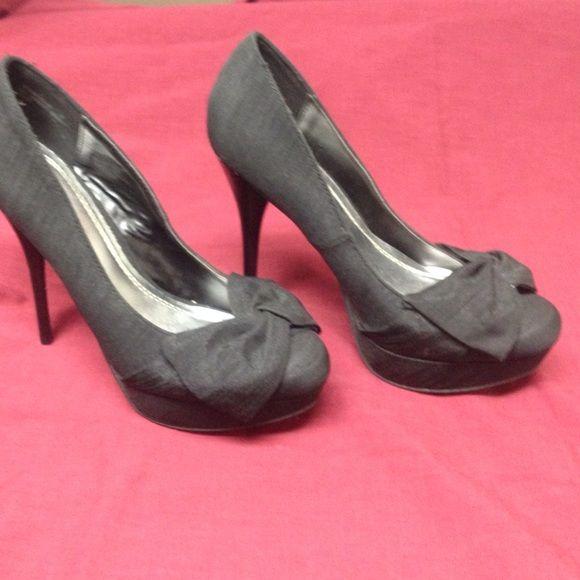 Black stilettos Black stilettos in new condition.... Wore once... Anne Michelle Shoes