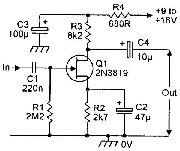 fet principles and circuits \u2014 part 2 casa electronics self bias jfet p channel mosfet relay switch circuit