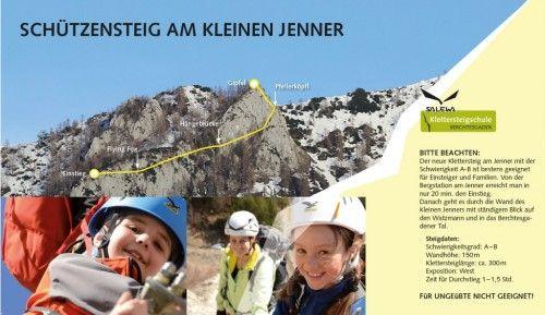 Klettersteig Jenner : Klettersteig schützensteig kleiner jenner berchtesgaden