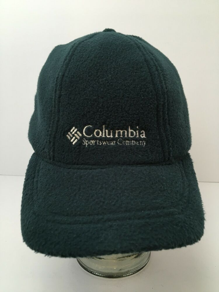 8bc8d21dc0cb7 Vintage Columbia Fleece Hat With Ear Flaps Winter USA Made Green Adjustable   Columbia  BaseballCapwithEarFlaps