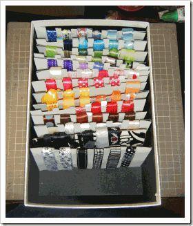 Ribbon Storage Ribbon Storage Craft Room Office Ribbon Box