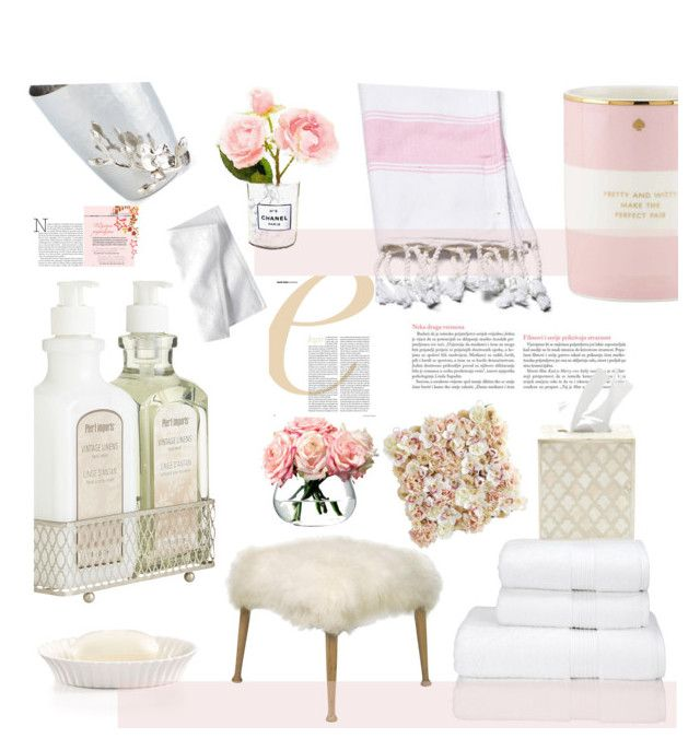 """Pink Powder Room 23/2/16 Top Home Set"" by mrs-rc ❤ liked on Polyvore featuring interior, interiors, interior design, дом, home decor, interior decorating, Pier 1 Imports, Kate Spade, Martha Stewart и Serena & Lily"