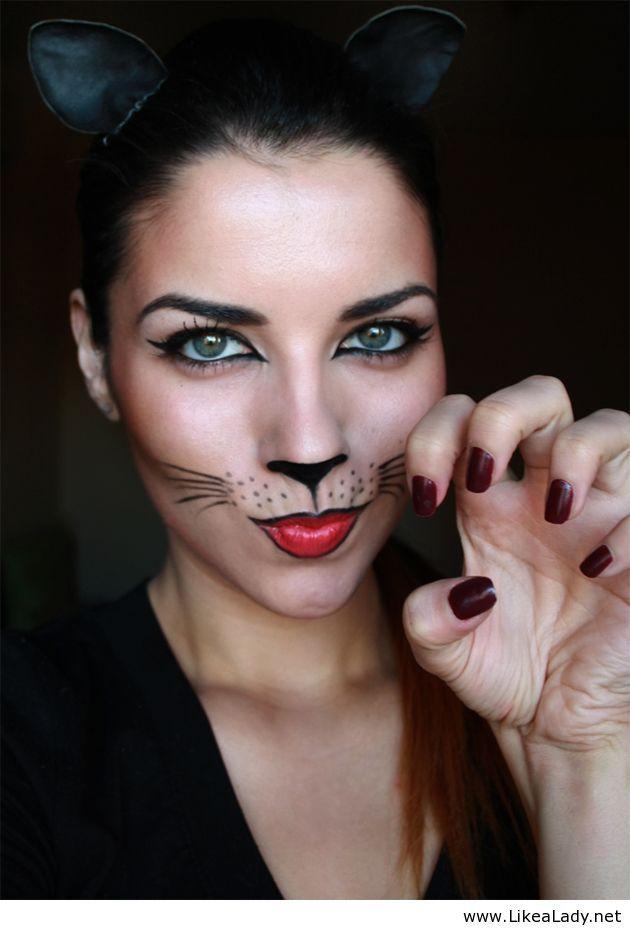 Catwoman Halloween Makeup : catwoman, halloween, makeup, Catwoman, Makeup, Halloween, Makeup,, Looks,, Cheap, Costumes