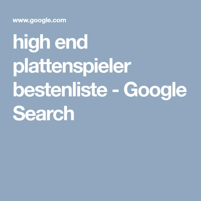 High End Plattenspieler Bestenliste Google Search Audio Und