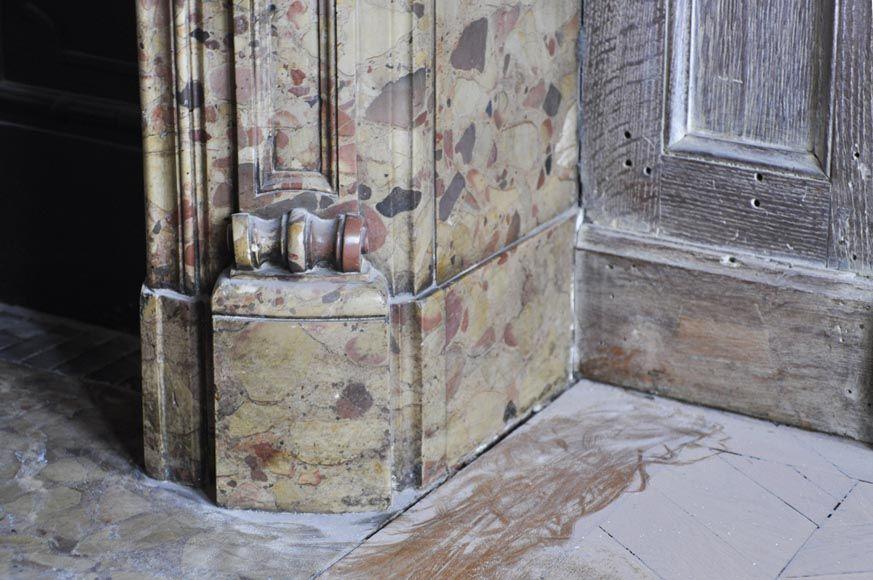 Beautiful antique Louis XV period fireplace in Breche d\u0027Alep marble