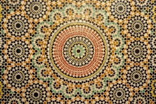Oriental mosaic decoration in morocco kitchen floor a place to