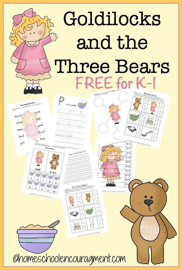 goldilocks the three bears free printable free educational printables fairy tale. Black Bedroom Furniture Sets. Home Design Ideas