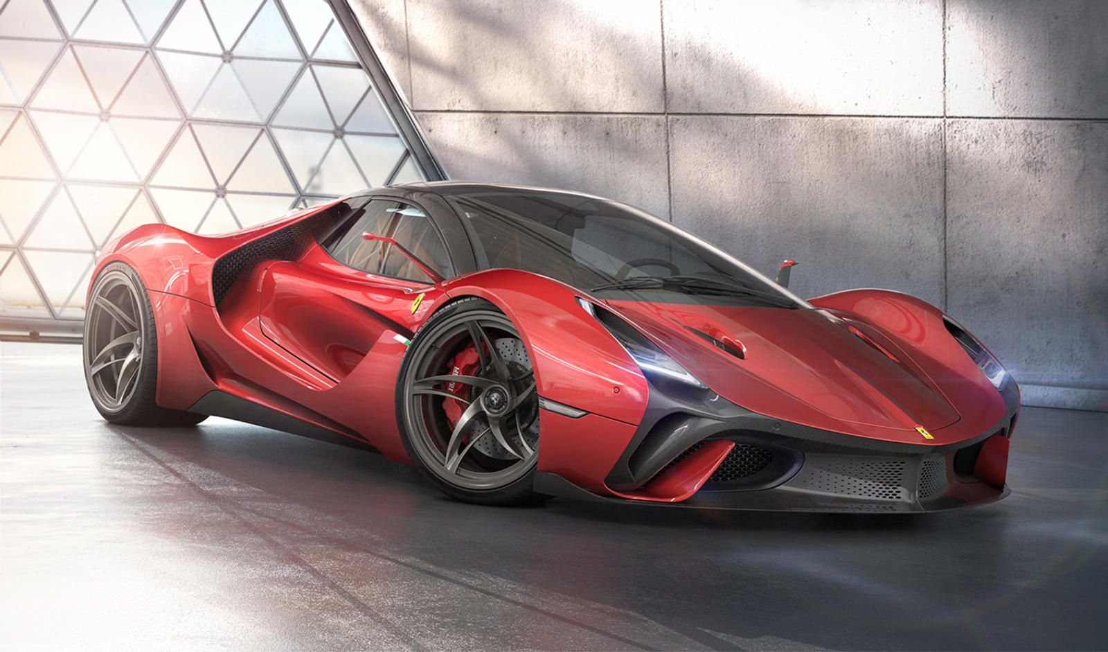 This Is What Ferrari S Next Flagship Hypercar Should Look Like Enzo Ferrari Would Doubtless Approve Of The Stallone In 2020 Ferrari Super Cars Ferrari F40