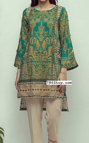 8a7065e593 Teal green cambric kurti buy zeen pakistani dresses and clothing online in usa  uk also rh