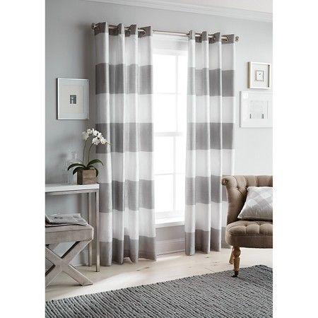 threshold bold stripe curtain panel