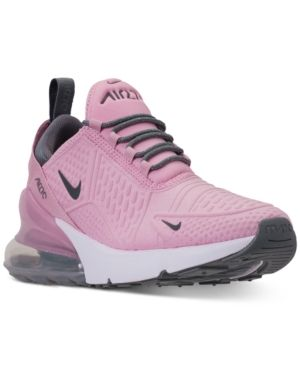 b10012ace9d Nike Girls  Air Max 270 Se Casual Sneakers from Finish Line - Red 5