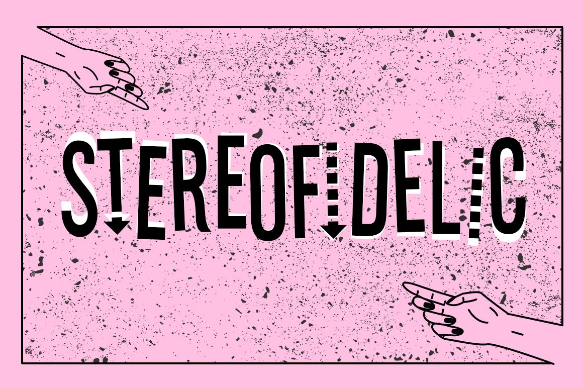 Stereofidelic (Font) by Typodermic · Creative Fabrica