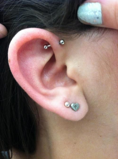Single Helix Piercing In Upper Helix Cartilage Icing On The Cake