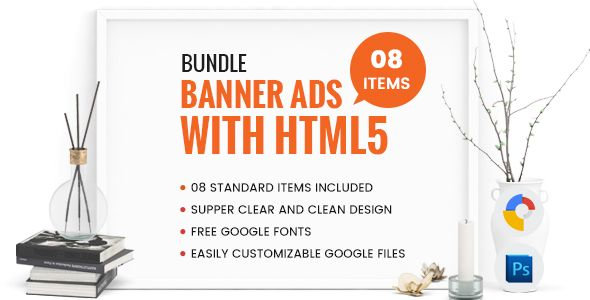 nice Bundle Banner Advertisements With HTML5 - GWD (Advert Templates)