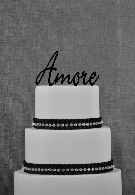 Wedding Cake Topper Amore Love Word Cake Topper By Chicago Factory