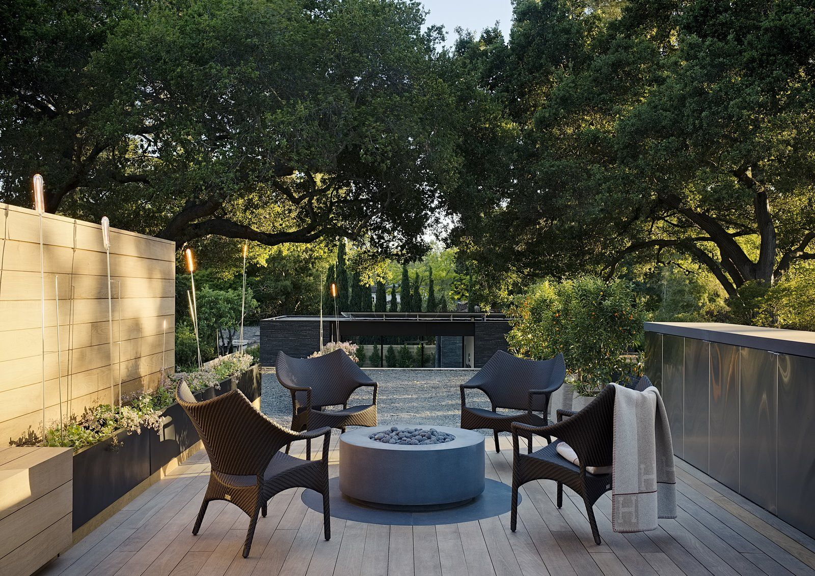 Photo 14 Of 23 In A Modernist Dream Home Makes The Most Of A Rare Patio Outdoor Wood Decks And Porches