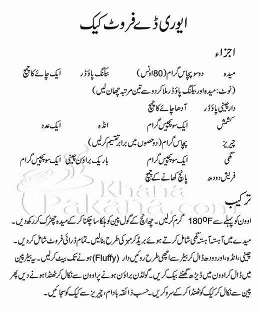Cake recipes easy in urdu