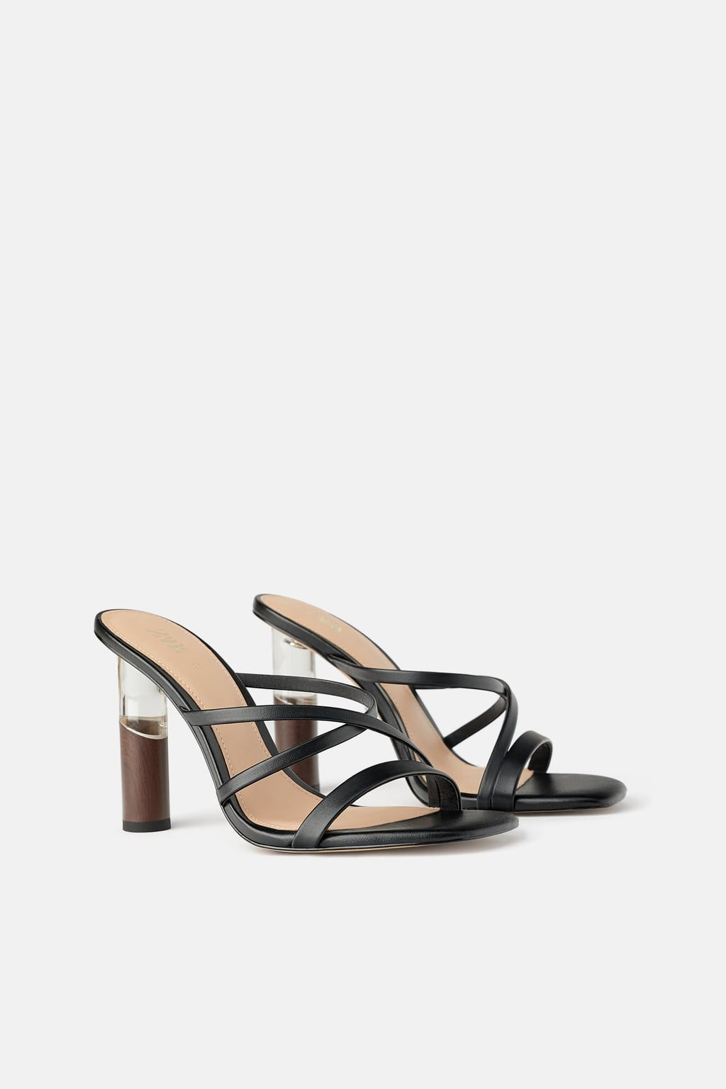 387bb626830 CONTRASTING ROUND HEELED SANDALS - View all-SHOES-WOMAN