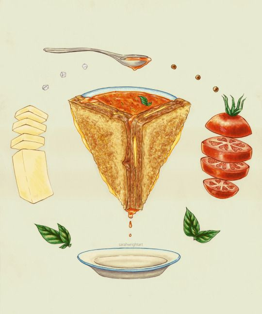 Grilled Cheese Mandala Illustration Sarah Wright 2015