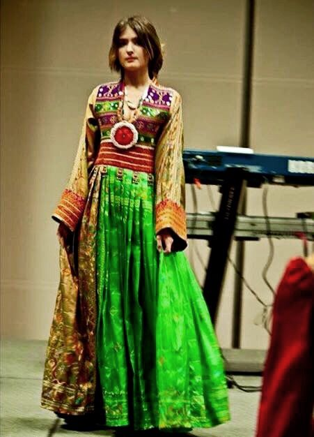 #afghan # style #dress #green  http://www.zarinas.com/dresses.shtml