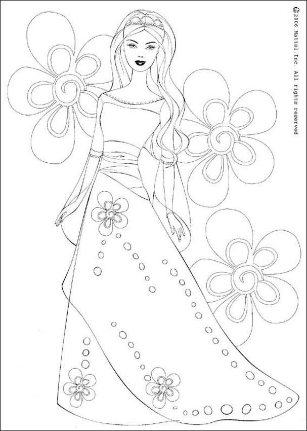 Barbie 69 Coloring Page