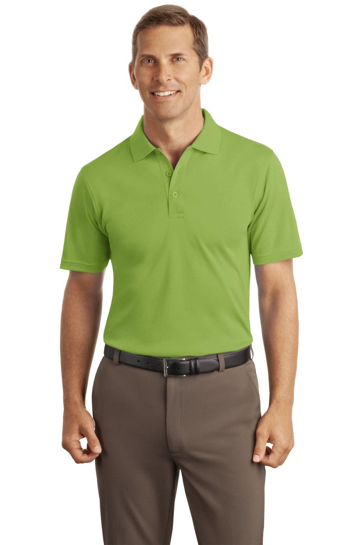 Port Authority Silk Touch™ Interlock Polo K520 Leaf Green