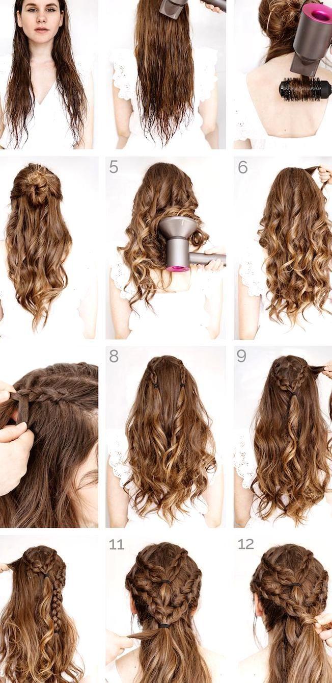 locken frisur haare mit fhn austrocknen locken machen zpfe