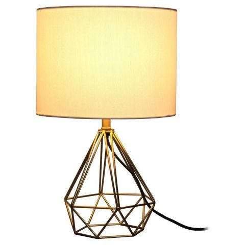 Charmant 25 Decor Pieces Under $50 To Glam Up Any Room: TARGET GEOMETRIC METAL SMALL TABLE  LAMP. This Lamp Is Small Enough To Blend In Without Dominating The Room, ...