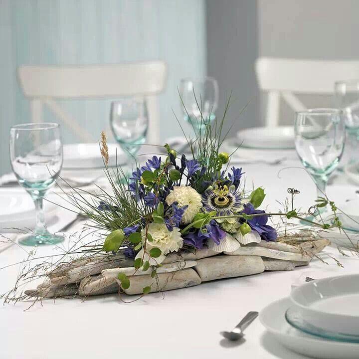 Beach Wedding Flower Arrangements: Lovely Beach Arrangement That Could Be Adapted For