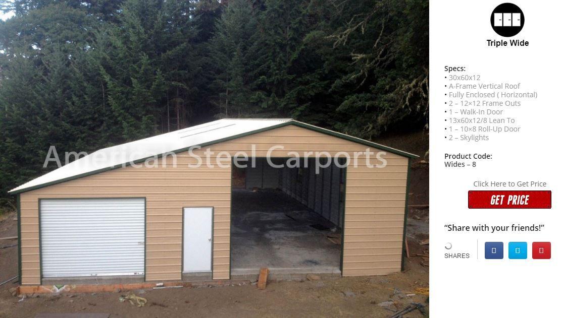 Wide Span | American Steel Carport Sales