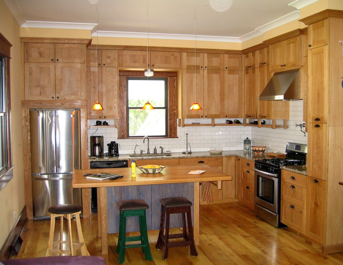 Small Contemporary Rustic L Shaped Kitchen L shaped