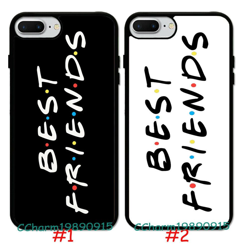 Fashion Best Friend Design Pattern Rubber Case Cover For iPhone 7 ...