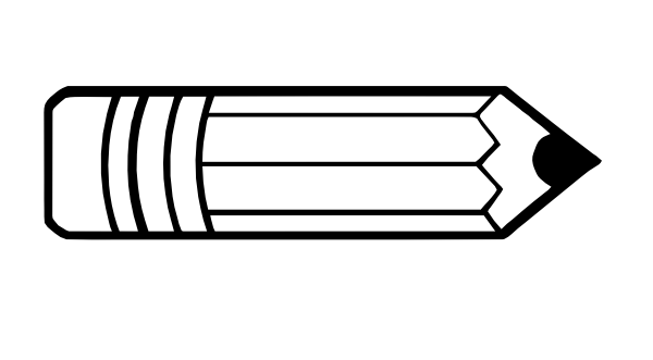 17+ Cute pencil clipart black and white information