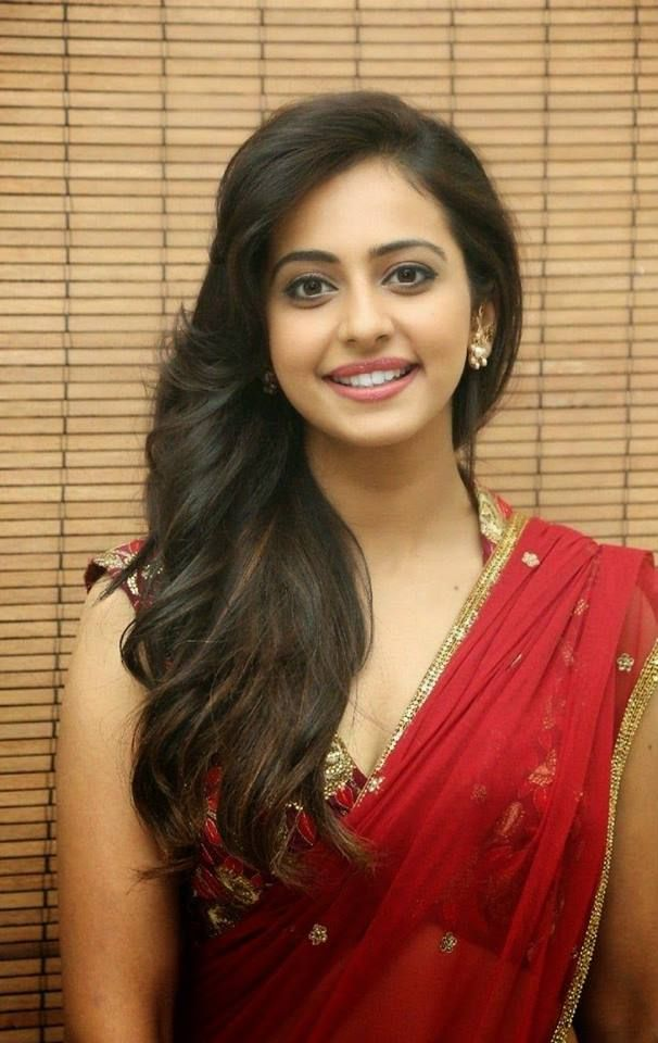 Beautiful Indian Young Woman With A Red Saree  Beautiful