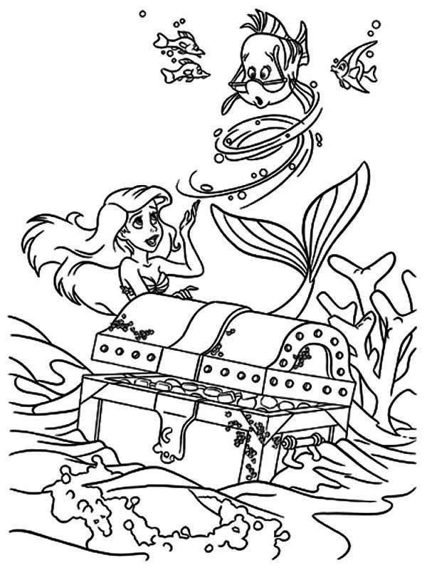 Treasure Chest, : Ariel Little Mermaid Found Treasure