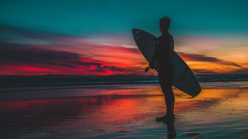 Wallpaper Surfer Surfing Shore Sunset Twilight Hd Picture Image In 2020 Take Better Photos Cool Photos Photography Tips