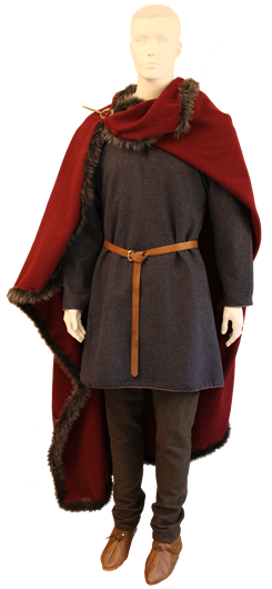 Viking Age, male costume (Mod. A). Museum quality reproduction of Iron Age costume, male. Textile, metal and leather by Ø. Engedal. www.arkeoreplika.no, www.bronsereplika.no