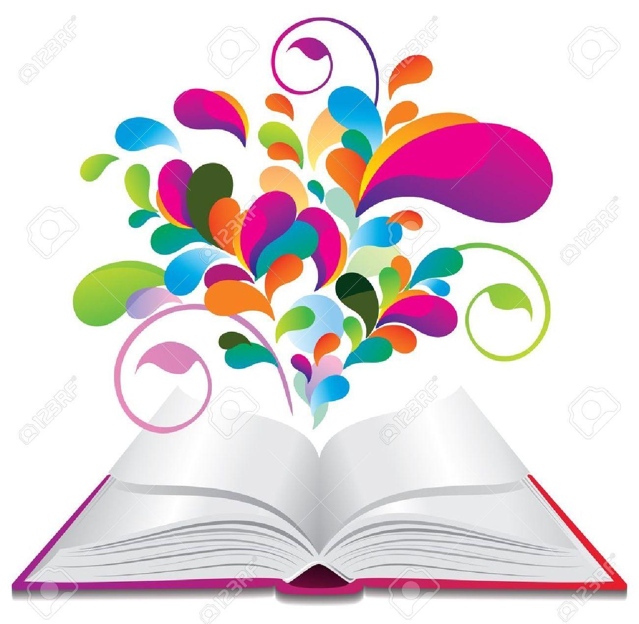 Resultado De Imagen De Libros De Colores Dibujo Libro Abierto Dibujos De Libros Animados Libro Abierto Animado