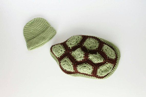 Crocheted Turtle Photo Prop, Newborn Turtle Photo Prop, Turtle Hat and Shell, Crochet Turtle Shell, Baby Turtle Photo Prop, Baby Turtle Hat #crochetturtles